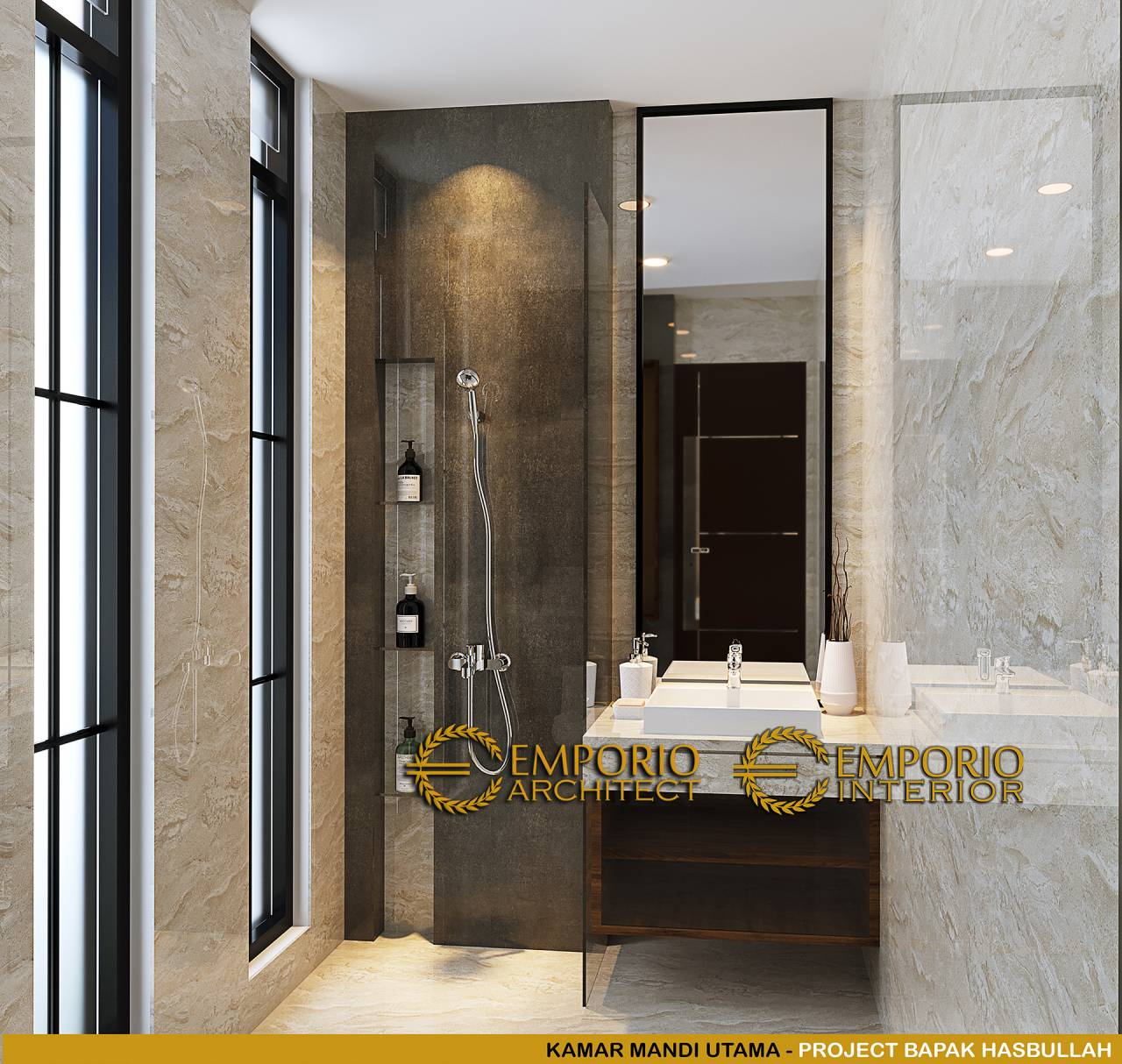 kamar mandi minimalis nan estetik