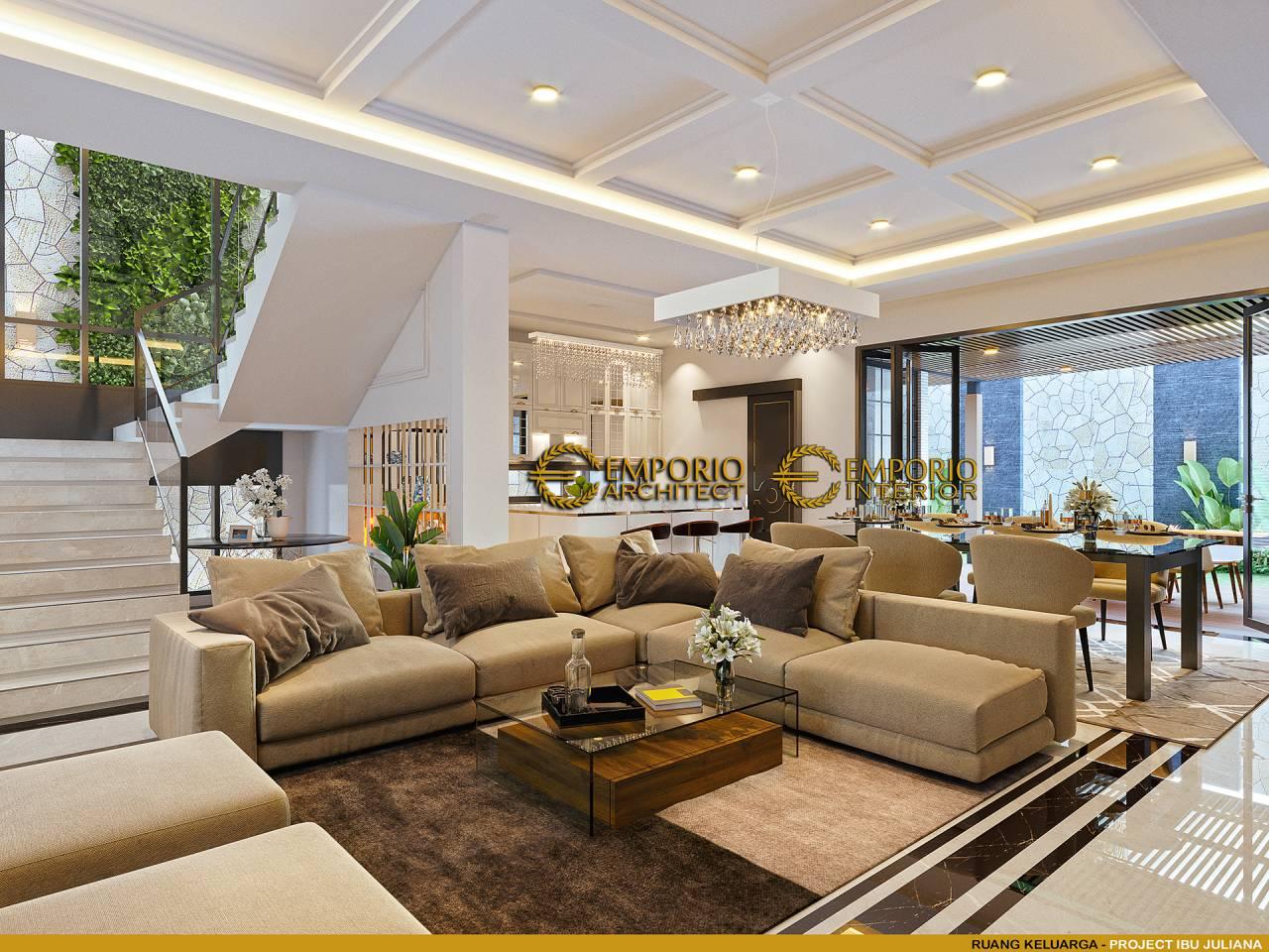 Ruang duduk yang lega dan estetik