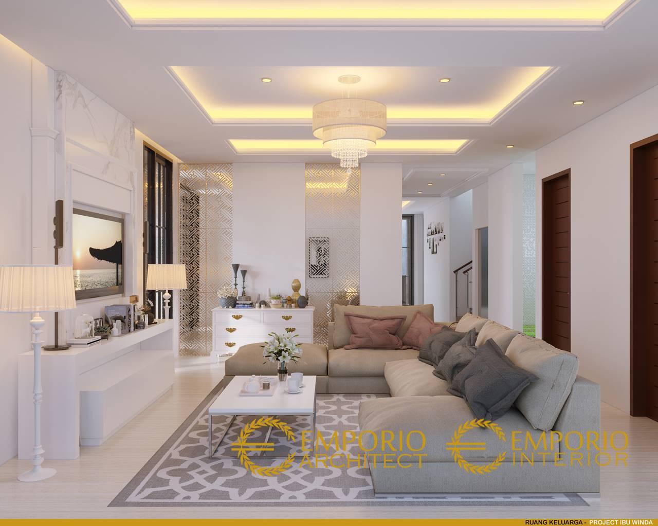 Desain Interior Rumah Modern Klasik 3 Lantai Ibu Winda Di Padang Sumatera Barat